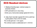 ecg readout devices