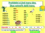 prohl dni si jin tvary slov zkus vytvo it dal tvary
