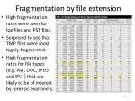 fragmentation by file extension