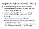 fragmentation distribution cont 2