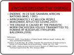 onchocerciasis the disease