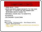symptoms contd