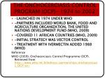 the onchocerciasis control program ocp 1974 to 2002