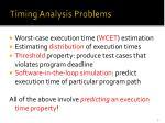 timing analysis problems