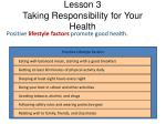 lesson 3 taking responsibility for your health1