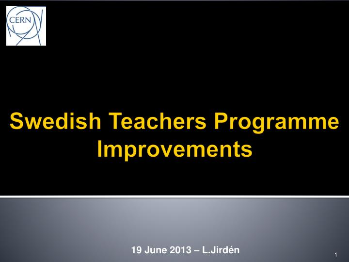 swedish teachers programme improvements n.