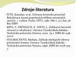 zdroje literatura