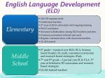 english language development eld