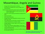 mozambique angola and guinea