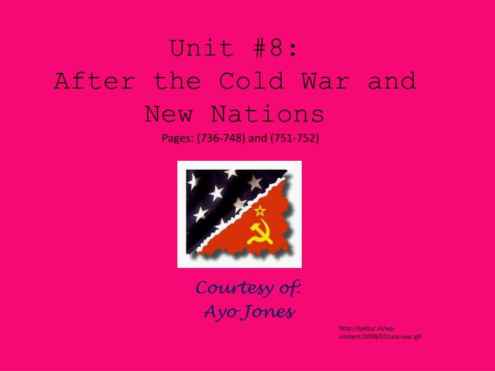unit 8 after the cold war and new nations n.