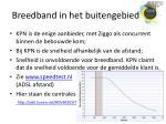 breedband in het buitengebied