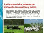 justificaci n de los sistemas de producci n con caprinos y ovinos