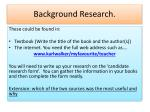 background research1