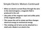 simple electric motors continued