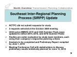 southeast inter regional planning process sirpp update