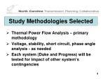 study methodologies selected