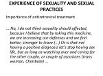 experience of sexuality and sexual practices