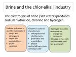 brine and the chlor alkali industry
