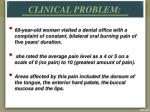 clinical problem