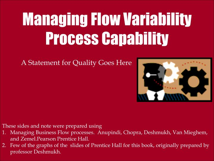 managing flow variability process capability n.