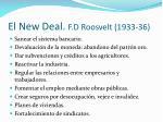 el new deal f d roosvelt 1933 36