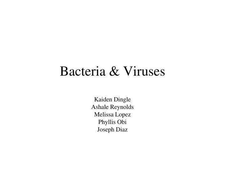 Ppt Bacteria Amp Viruses Powerpoint Presentation Id2216292