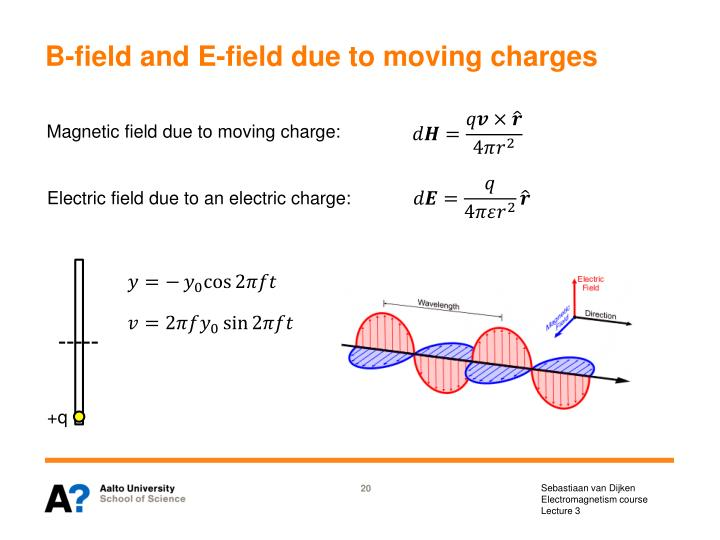 B-field and E-field due to moving charges
