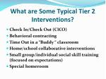 what are some typical tier 2 interventions