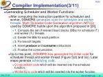 compiler implementation 3 11