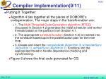 compiler implementation 9 11