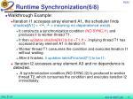 runtime synchronization 6 8