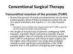 conventional surgical therapy