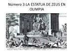 n mero 3 la estatua de zeus en olimpia