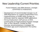 new leadership current priorities