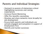 parents and individual strategies