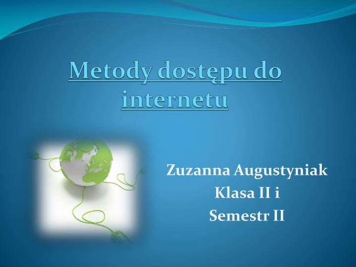 metody dost pu do internetu n.