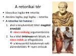 a retorikai t r