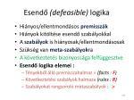 esend defeasible logika
