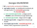 georges kalinowski