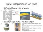 optics integration in ion traps