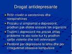 drogat antidepresante