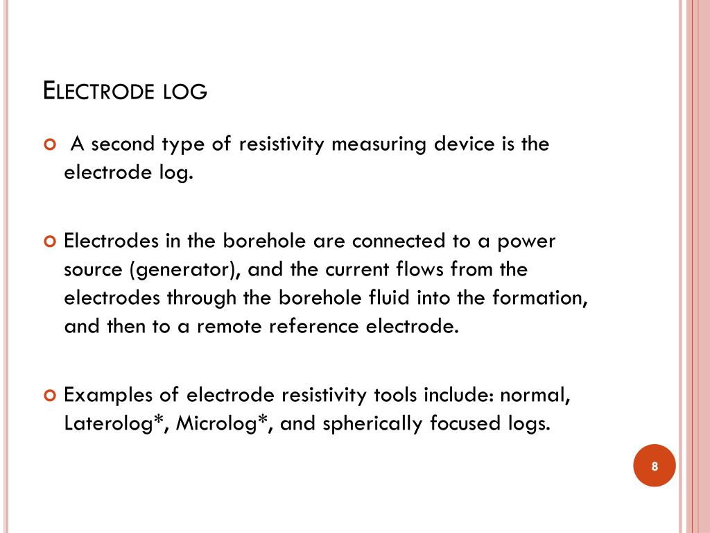 PPT - Basic well Logging Analysis – The Resistivity Logs PowerPoint