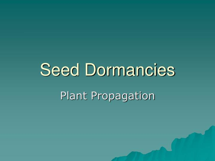 seed dormancies n.