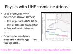 physics with uhe cosmic neutrinos2