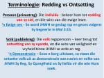 terminologie redding vs ontsetting
