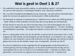 wat is ges in deel 1 2
