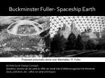 buckminster fuller spaceship earth