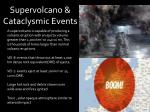supervolcano cataclysmic events