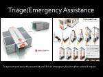 triage emergency assistance