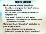 neutral leptons
